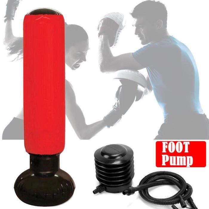 150 CM Sac de boxe gonflable sur pied Colonne de boxe avec pompe pour Enfant Adulte-TAM