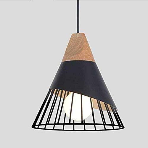 Rétro Metal Suspension Noir Cage E27 Suspension Industrielle Lampe Vintage Pendante Lumière Vintage en Métal Eclairage de