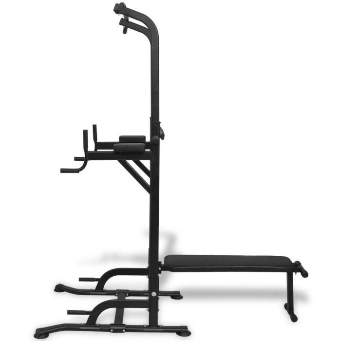 Machines d'halterophilie et supports pour barres Tour de musculation avec banc d'assise