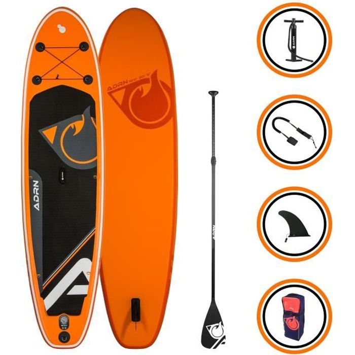 Stand up Paddle Gonflable CRUISER 10'2 (310cm) 30'' (76cm) 5'' (12,7cm) + Accessoires