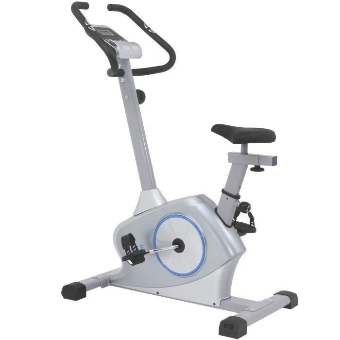 ISE Vélo d'appartement Magnétique, Vélo statique compact 8 niveaux de résistance réglables,Masse d'inertie 12 Kg