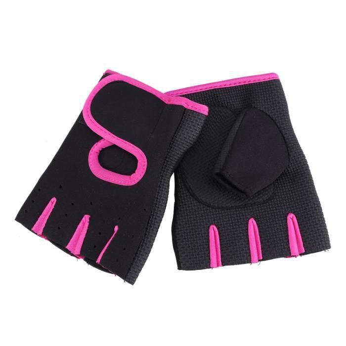 Une paire de gants de musculation de cyclisme professionnel Haltères Fitness Haltérophilie Gants GROUND MAT - GYM MAT - YOGA MAT