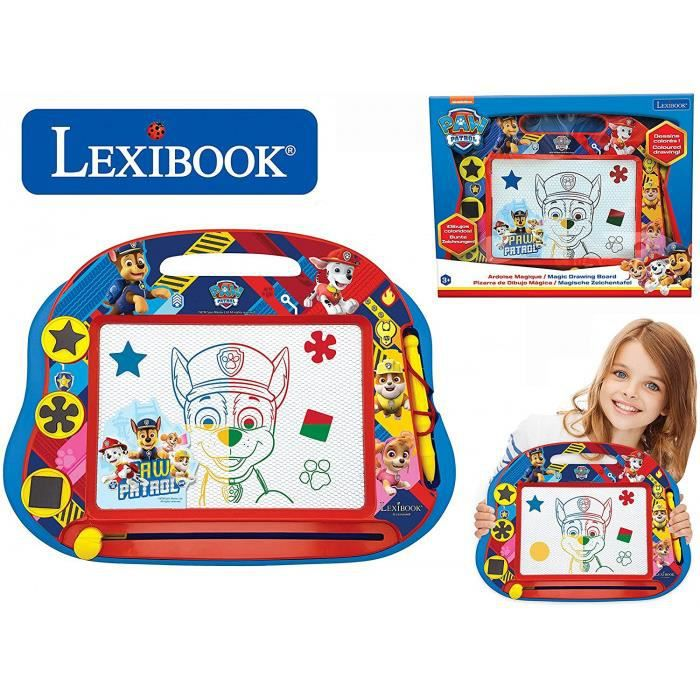Lexibook- Ardoise Magique Multicolore Paw Patrol La Pat'Patrouille, Jouet Artistique Et Créatif Pour Filles Et Garçons, Magnétique A