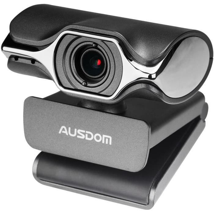 Caméra d'ordinateur, caméra Web Ausdom USB HD 1080p, appels et enregistrements vidéo, webcam réseau avec microphone pour Skype, Face