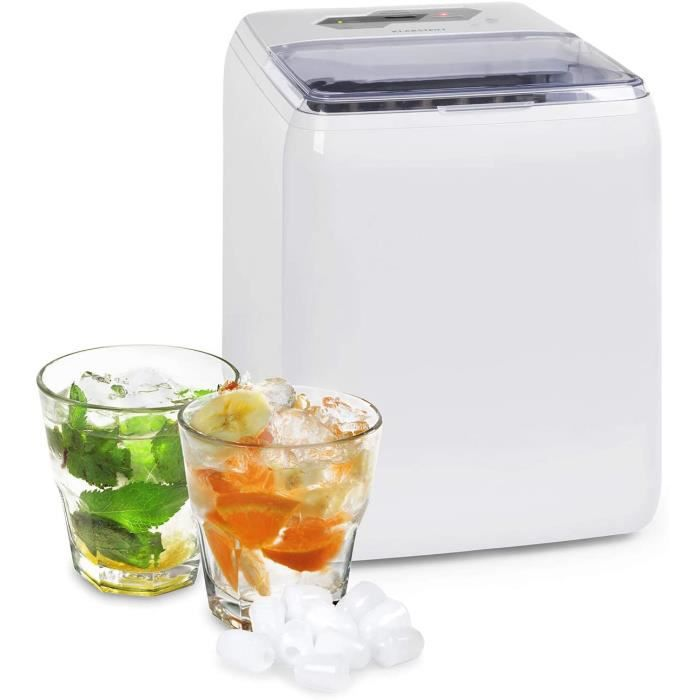 MACHINE A GLACONS Klarstein Coolio - Machine à gla&ccedilons, Glace transparente, 20kg de glace par jour, R&eacuteservo6