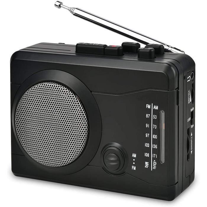 RADIO CD DIGITNOW Enregistreur audio personnel de joueur de cassette dUSB avec le hautparleur cassette de cassette denregistreme220