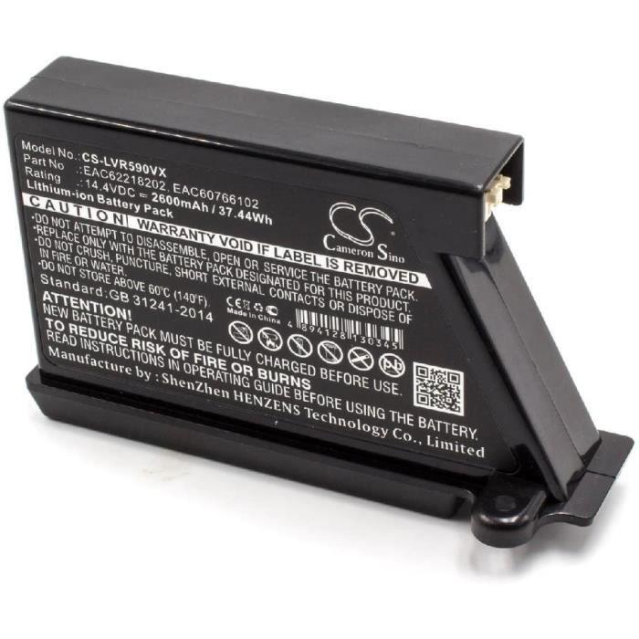 BALAI ELECTRIQUEvhbw LiIon batterie 2600mAh 144V pour robot aspirateur Home Cleaner LG HomBot VR6260LVM VR62701LV VR62701LVB VR62792