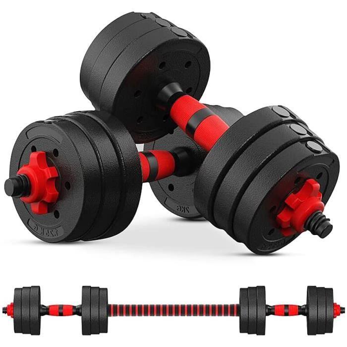 Ensemble D'Haltères- Haltères Réglables 20 kg- 2en1 Kit Haltere Musculation pour Hommes Et Femmes[16]