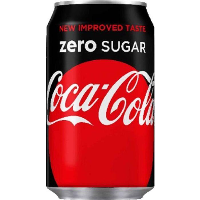 Coca Cola Zero Sugar (24 x 0,33L cannettes) Ni Sucre