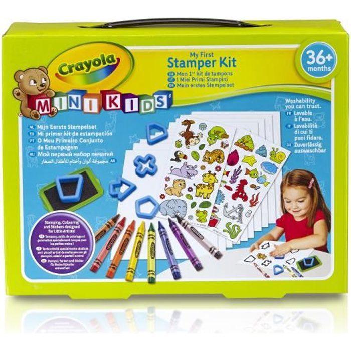 Crayola - Mini Kids - Mon 1er Kit de tampons - Coloriage pour enfant et tout petit