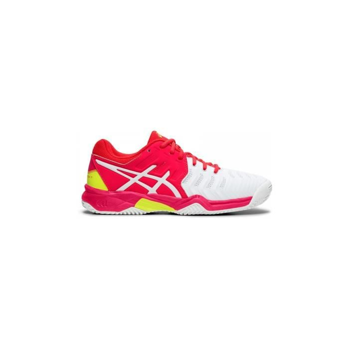 Chaussures ASICS Junior Gel-Resolution 7 Clay Terre Battue GS Blanc/Rose AH 2019