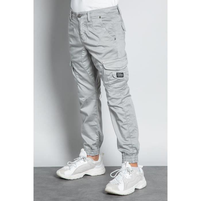 DEELUXE Pantalon cargo slim GARDEN Grey