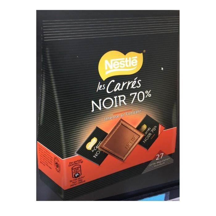 NESTLE Grand Chocolat Noir Intense 70% carrés - 210 g