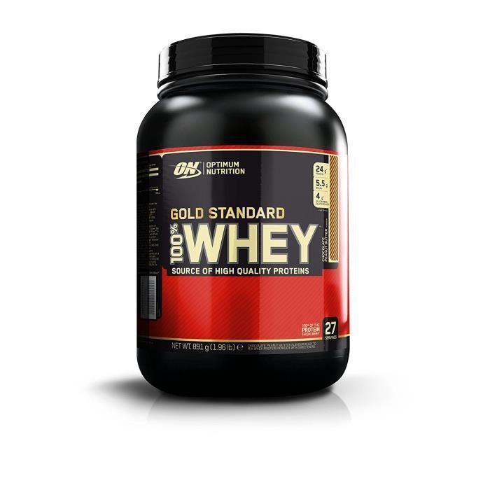 100% Whey Gold Standard 2 lbs (908g) (Chocolat et beurre de cacahuète)