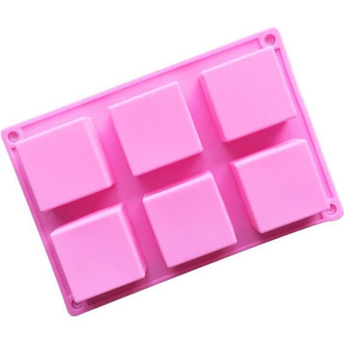 6 cavités carrée moule de gâteau à gâteau multi-usage outil de cuisson en silicone moule de muffin portable pour mousse au chocolat