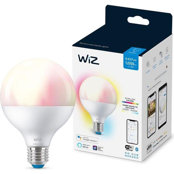 WiZ Ampoule connectée Globe couleur E27 75W