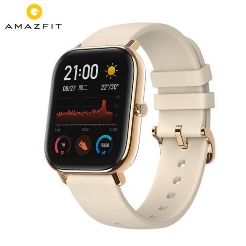 Amazfit GTS XIAOMI - Montre Connectée Cellulaire GPS - Montre Contactée Grand - Coloris :Or - meilleur cadeau