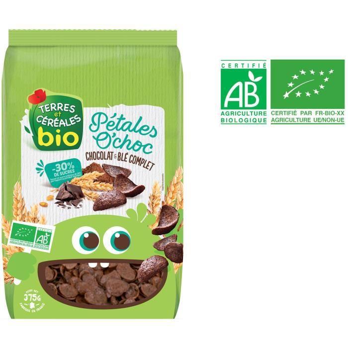 Céréales pétales chocolat 375 g Terres et Céréales