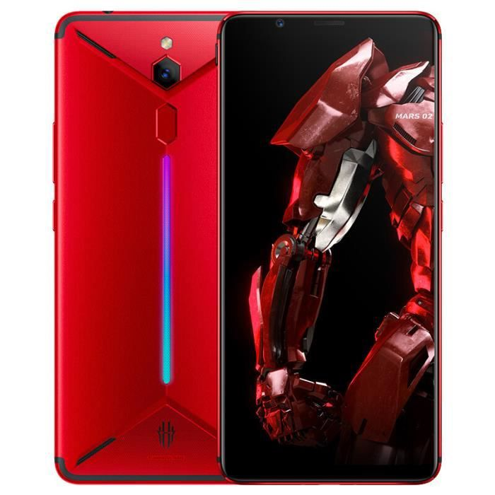 Smartphone ZTE Nubia Red Magic Mars Téléphone Gaming 8Go + 128Go 6.0- 18: 9 Snapdragon 845 Octa-core Android 9.0 3800 mAh - Rouge