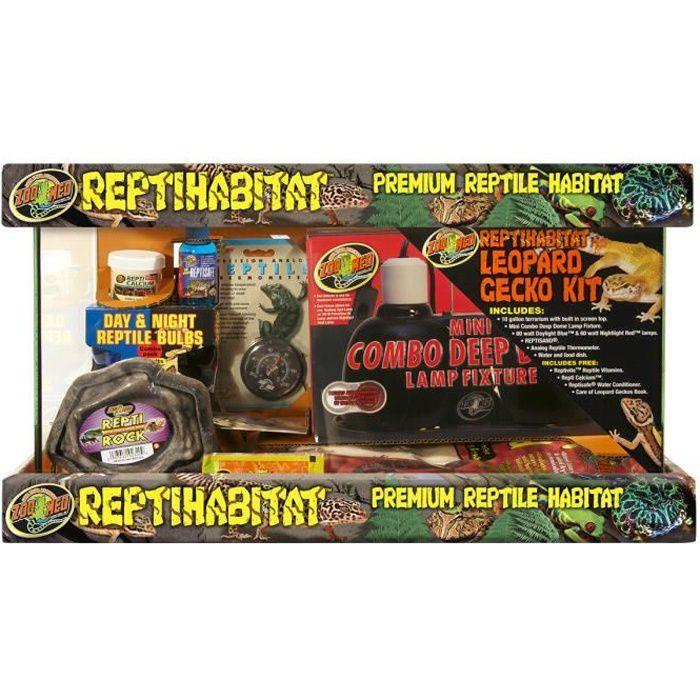 VIVARIUM - TERRARIUM Kit Gecko Léopard Ntl10e - Zoo Med