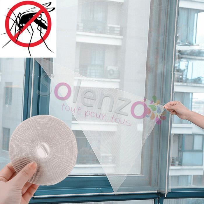 Lot de 2/1.3/x 1.5/m Mosquito Fly Bug insectes fen/être Rideau de protection /écran avec rouleau de papier autocollant fen/être en maille filet