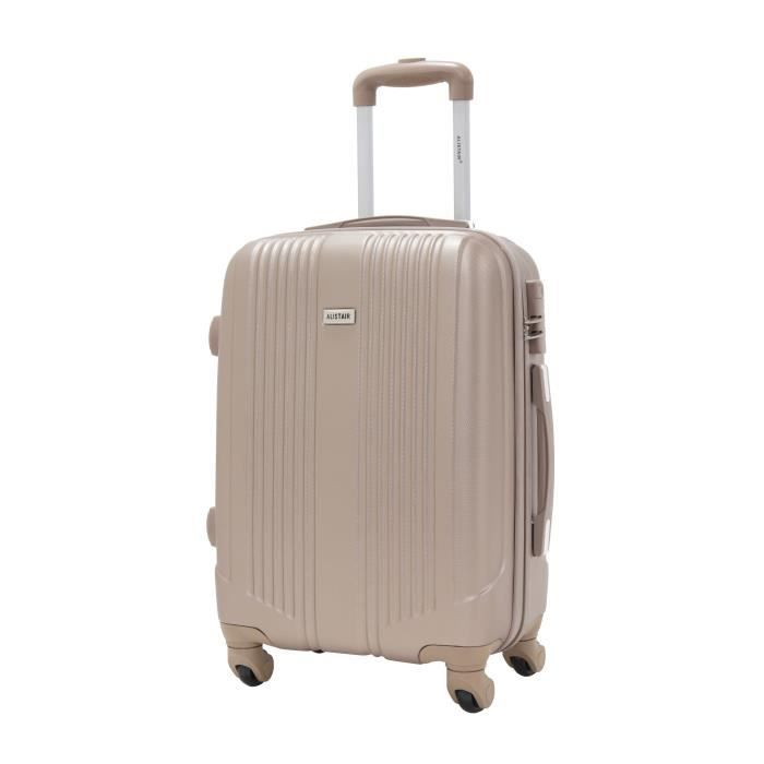 valise taille cabine 55cm alistair airo abs ultra leger 4 roues beige champagne achat. Black Bedroom Furniture Sets. Home Design Ideas