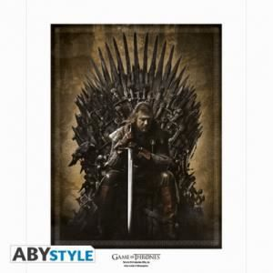 collector artprint game of thrones tr ne achat vente On decoration murale game of thrones