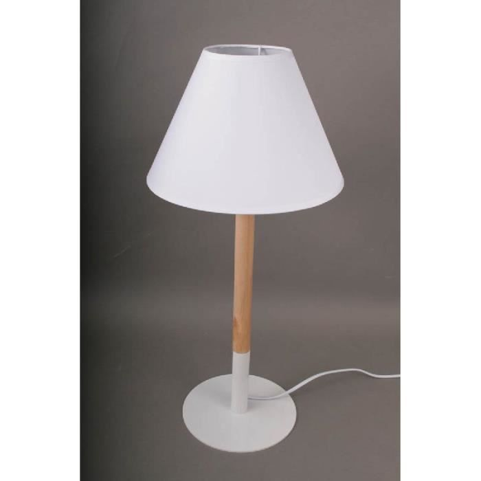 lampe sur pied design blanc bois collection achat vente lampe sur pied design blanc. Black Bedroom Furniture Sets. Home Design Ideas