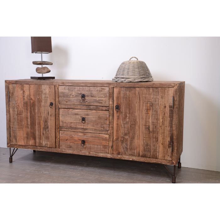 bahut en pin recycl 39 nola 39 achat vente buffet bahut. Black Bedroom Furniture Sets. Home Design Ideas