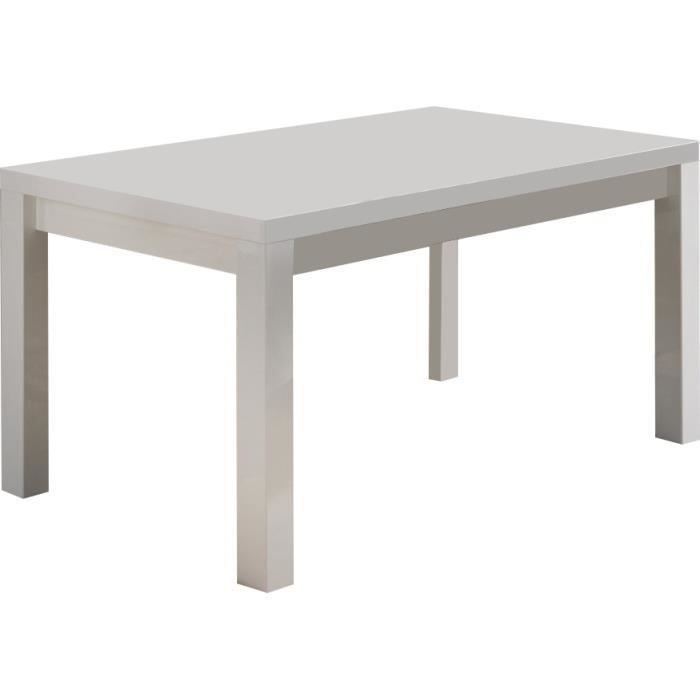 Table a manger blanc laque design achat vente table a for Table salle a manger laque blanc
