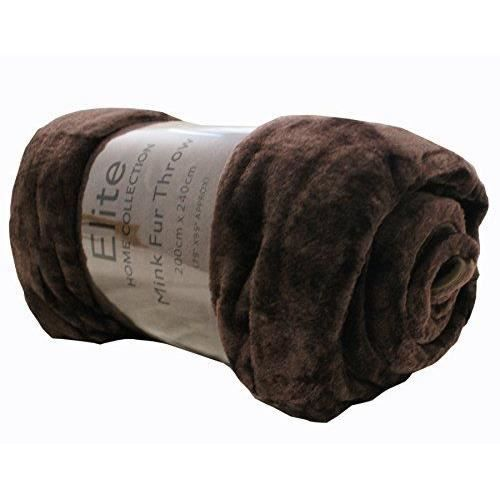 EHC Couverture//plaid Fausse fourrure Camel Taille XL 200/x/240/cm