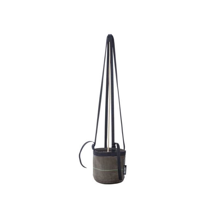 Pot de fleur suspendu tuteur 3l mati re g otextile marron achat vente jardini re pot - Pot fleur suspendu ...