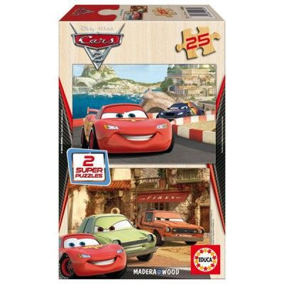 puzzle 2 x 25 pi ces cars 2 achat vente puzzle cdiscount. Black Bedroom Furniture Sets. Home Design Ideas