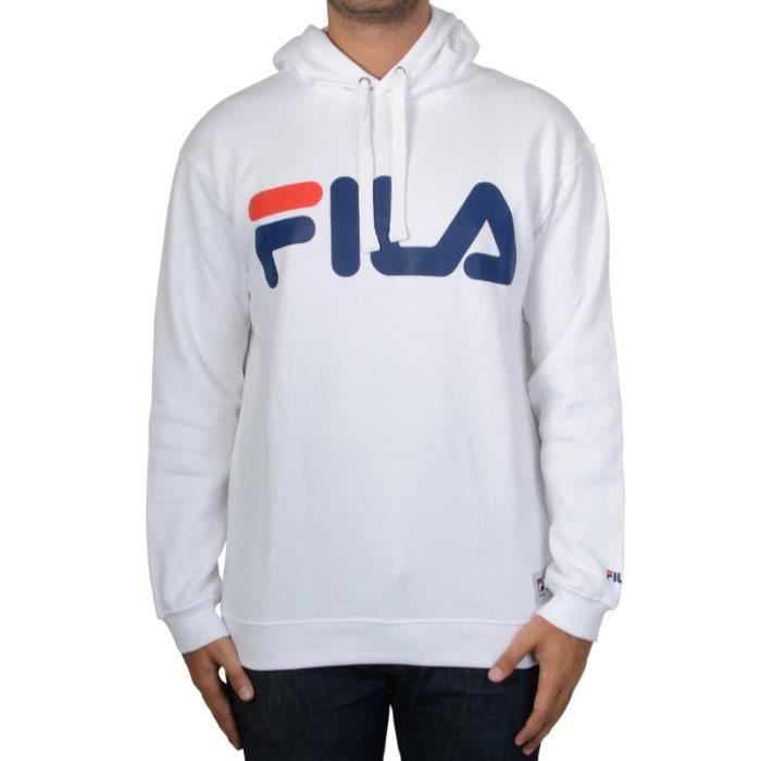 sweat capuche fila crash hoodie m67 bright white blanc blanc achat vente sweatshirt. Black Bedroom Furniture Sets. Home Design Ideas