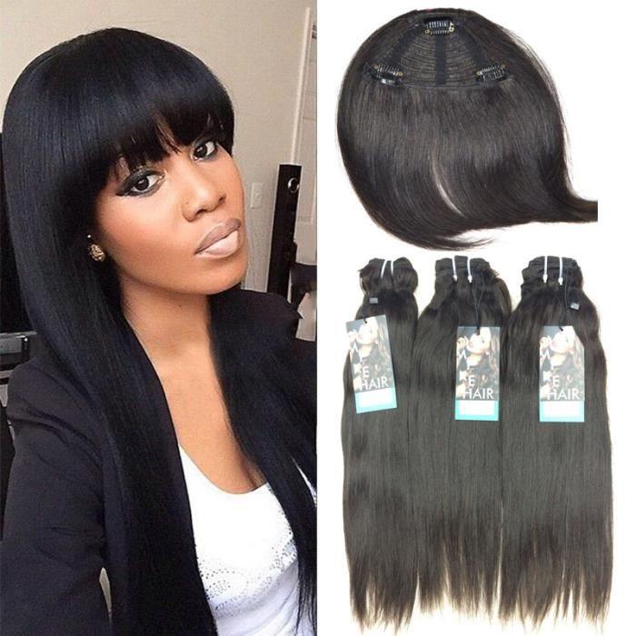 3 Tissage Lisse Cheveux Humains Naturel Bresilien Avec Frange Approvisionnement D Usine Achat Vente Perruque Postiche 3 Tissage Lisse Cheveux Hum Cdiscount