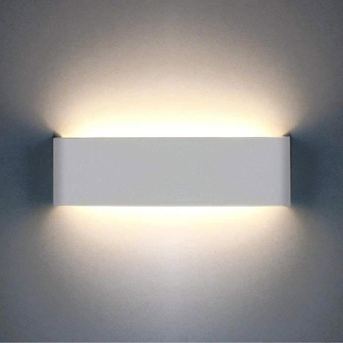 Style Modern Lampe Murale Applique pour chambre salon, Noir (Ampoule non  Comprise)