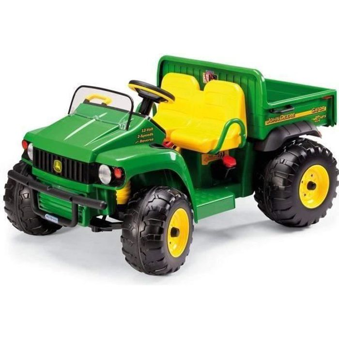peg perego tracteur electrique enfant john deere gator hpx avec benne 2 places achat vente. Black Bedroom Furniture Sets. Home Design Ideas