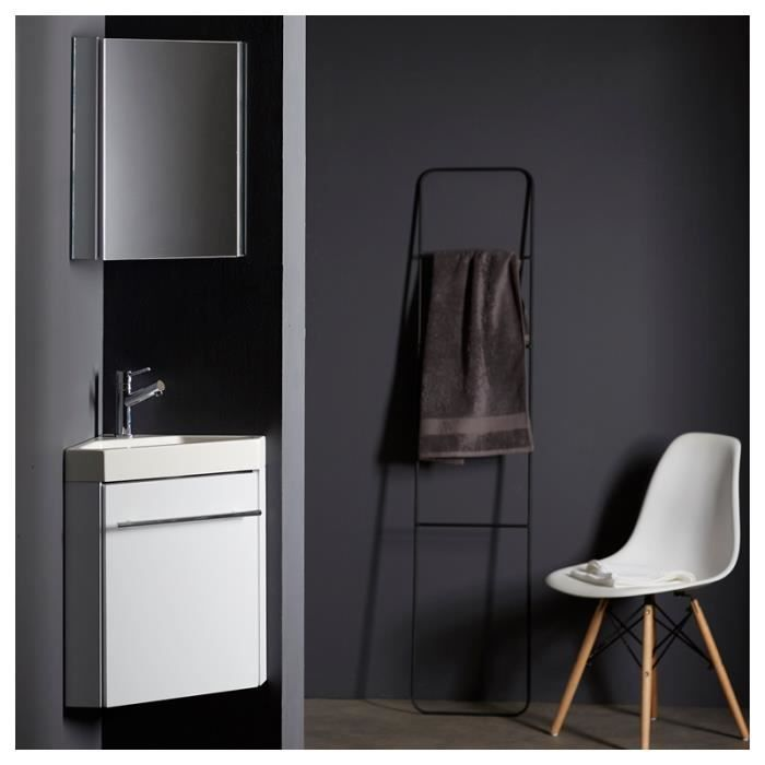 lave mains d 39 angle complet pour wc avec meuble design. Black Bedroom Furniture Sets. Home Design Ideas