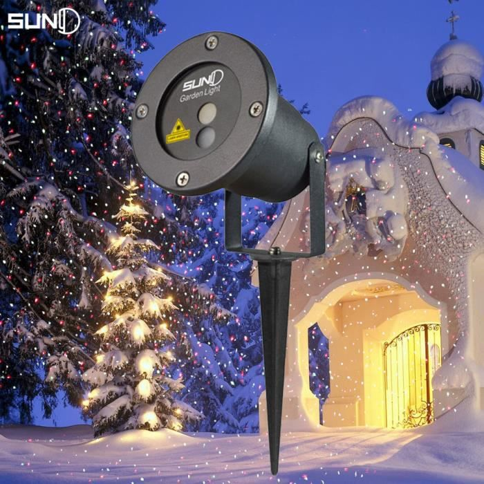 Projecteur rg statique star light laser tanche ext rieur for Eclairage noel exterieur projecteur