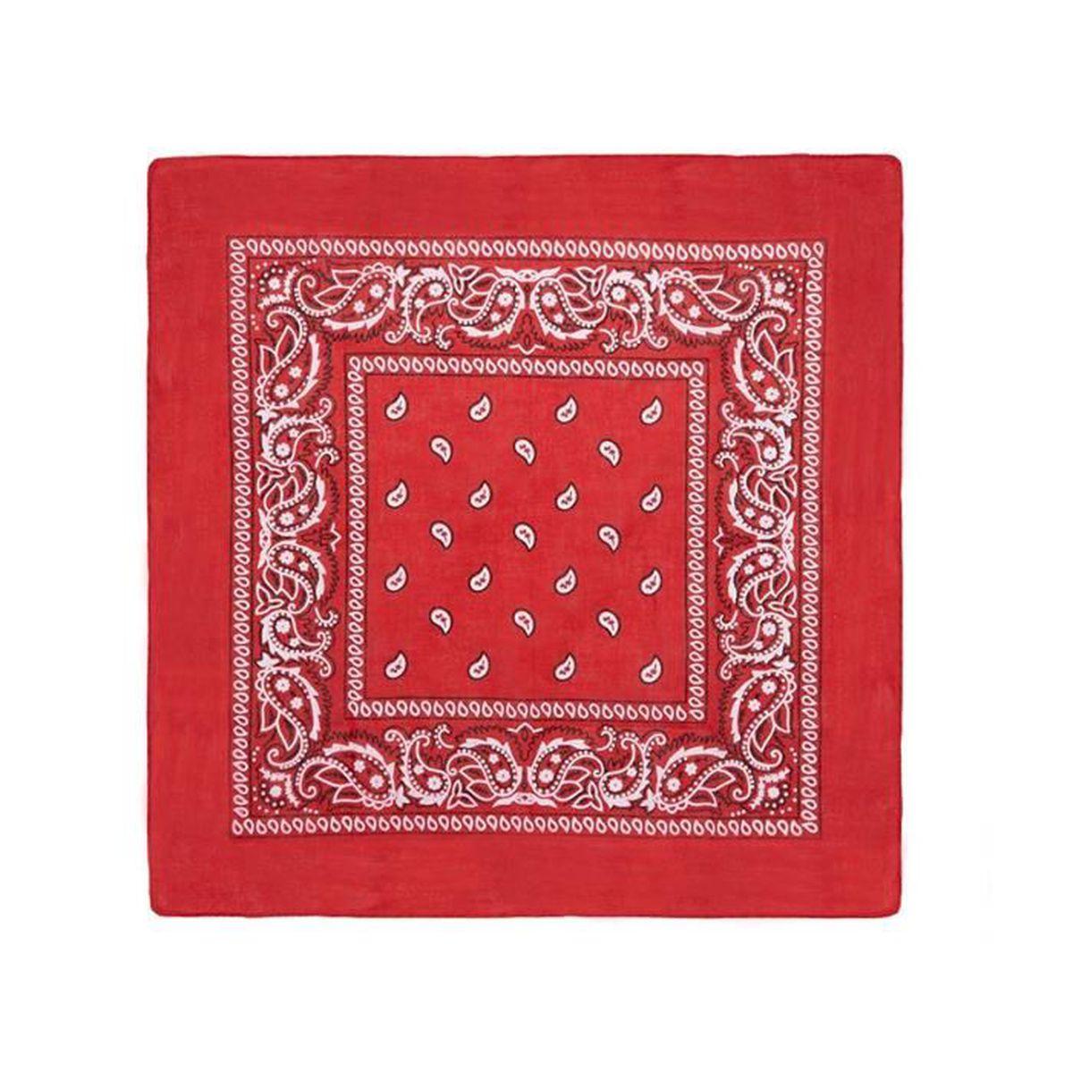 KUSTOM FACTORY Bandana Drapeau Am/éricain Bleu et Rouge Coton 55 x 55 cm