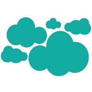 Stickers nuages - Sticker chambre bébé en kit 94 x 61 cm ...