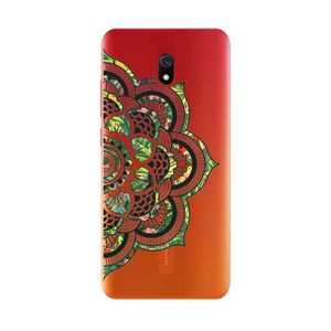 COQUE - BUMPER Coque Redmi 8A Mandala vert jungle transparente