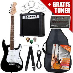 GUITARE Rocktile ST Pack Guitare électrique set en noir…