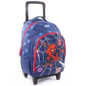 CARTABLE Sac à roulettes 45 CM Spiderman Power Haut de gamm