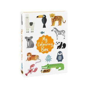 KIT DE DESSIN BIC My Colouring Box - Kit de Coloriage avec 12Fe