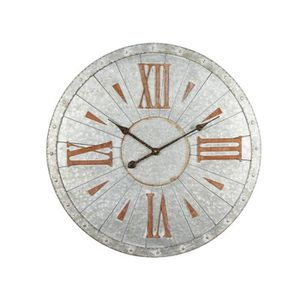 HORLOGE - PENDULE CLEP Horloge murale effet métal - Acier - Ø68x3 cm