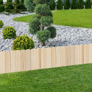 BORDURE Lot de 10 bordurettes de jardin en bois L. 5 M x H