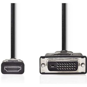 CÂBLE RÉSEAU  NEDIS CCGP34800BK20 Cable HDMI vers DVI-D 24+1