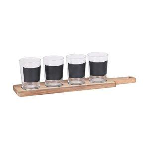 Verre à bière - Cidre Coffret Planche De Service 4 Verres Dégustation Bi