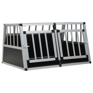CAISSE DE TRANSPORT Cage pour chien à double porte 89 x 69 x 50 cm